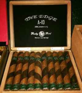Box of Rock Patel Edge A-10 cigars