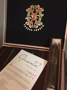 Box of Opus X Cigars